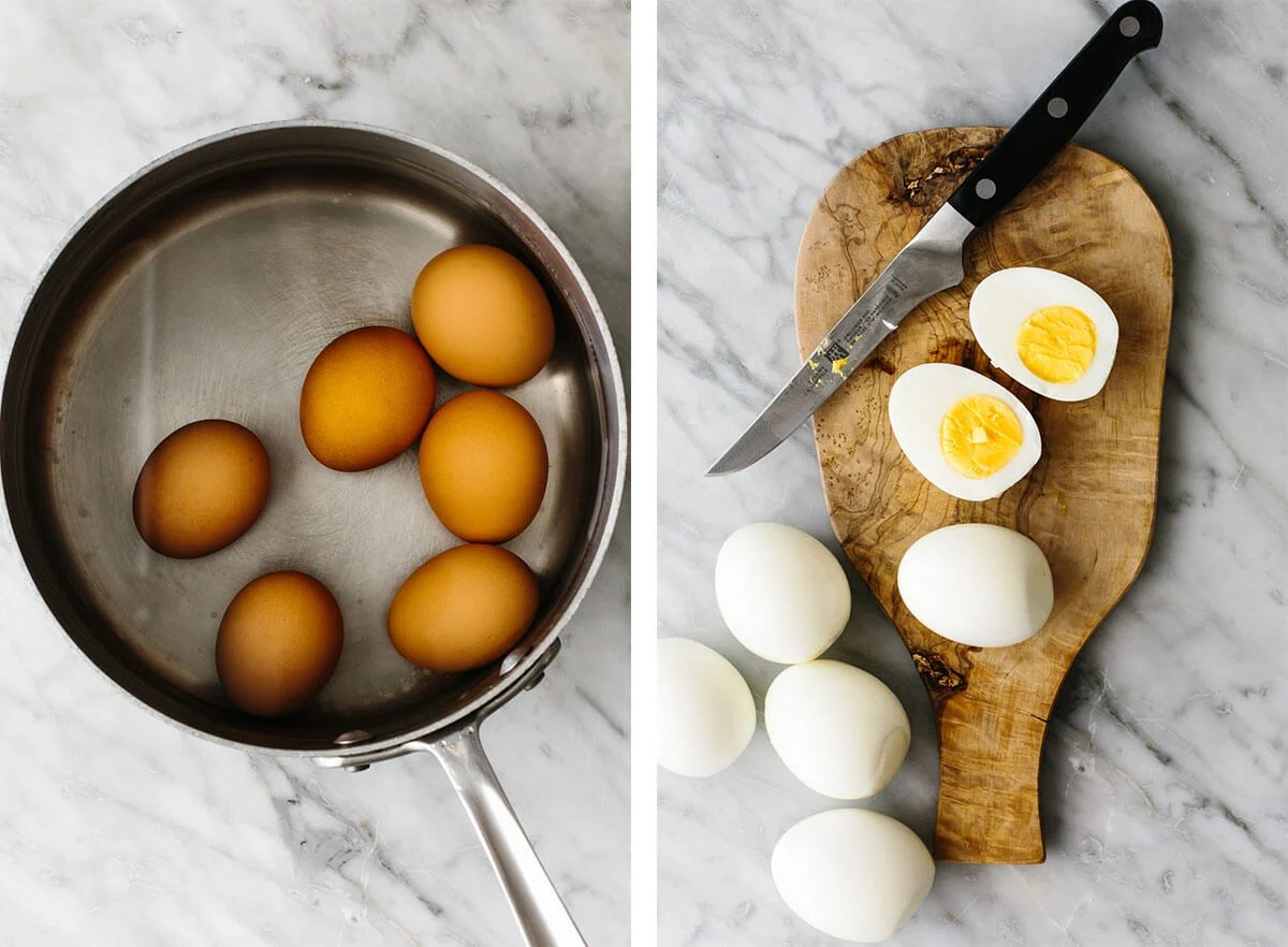 Boiling eggs for smoked salmon deviled eggs