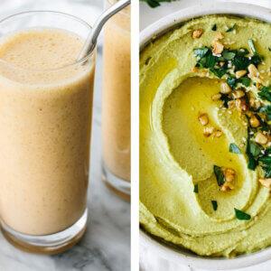 Vitamix recipes with hummus and mandarin smoothie