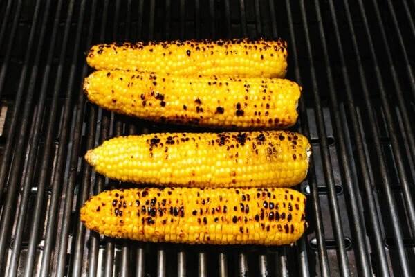 Grilling corn for corn salad