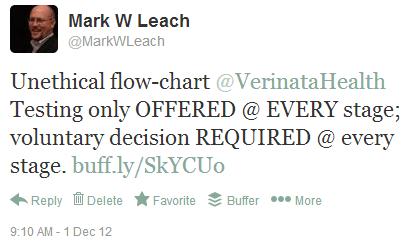 Verinata flowchart tweet