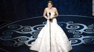 Jennifer Lawrence wins Best Actress, 2013 Oscars