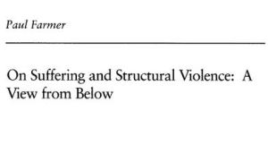 paul farmer structural violence