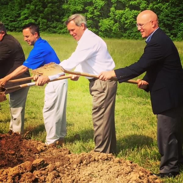 Cedar Lake staff & board members join in the groundbreaking ceremony (your author at right)