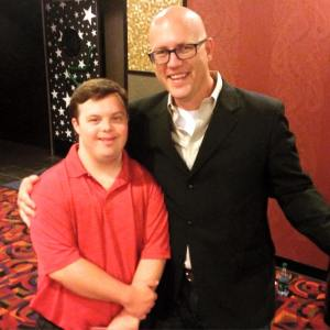 The star, David DeSanctis, and your author