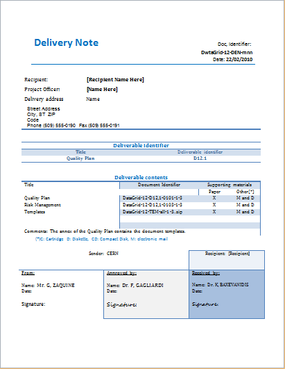 customizable delivery note template for ms word document hub