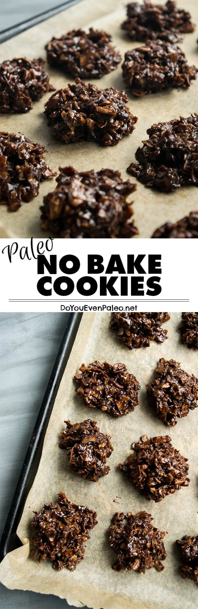Paleo No Bake Cookies - these classic cookies are made entirely on the stovetop. Chocolatey and simple! | DoYouEvenPaleo.net