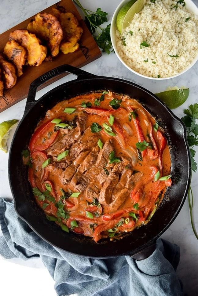 Quick Thai Red Curry Beef Tenderloin Skillet | DoYouEvenPaleo.net