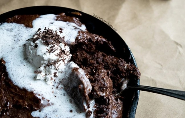 Flourless Plantain Skillet Brownie | DoYouEvenPaleo.net