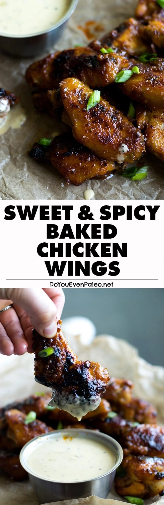 Sticky sweet with a smoldering heat, these paleo baked chicken wings are WAY easier than you'd think! | DoYouEvenPaleo.net