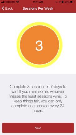 fitpotato session per week