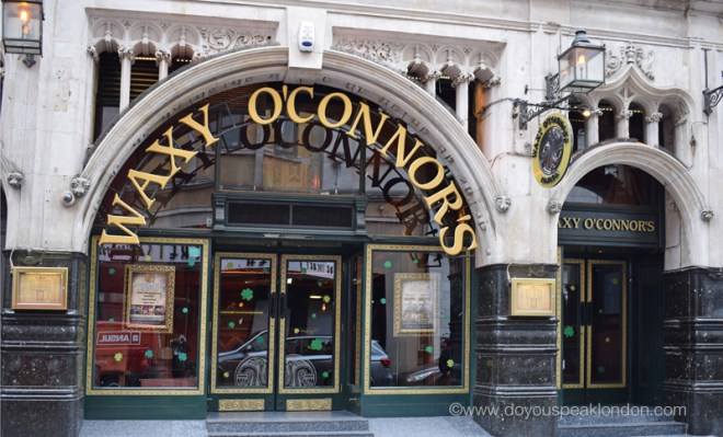 Waxy o'Connors Doyouspeaklondon Lifestyle London Blog