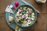 Stewed Green Pea Dip with Radishes (Ertestuing-dipp)