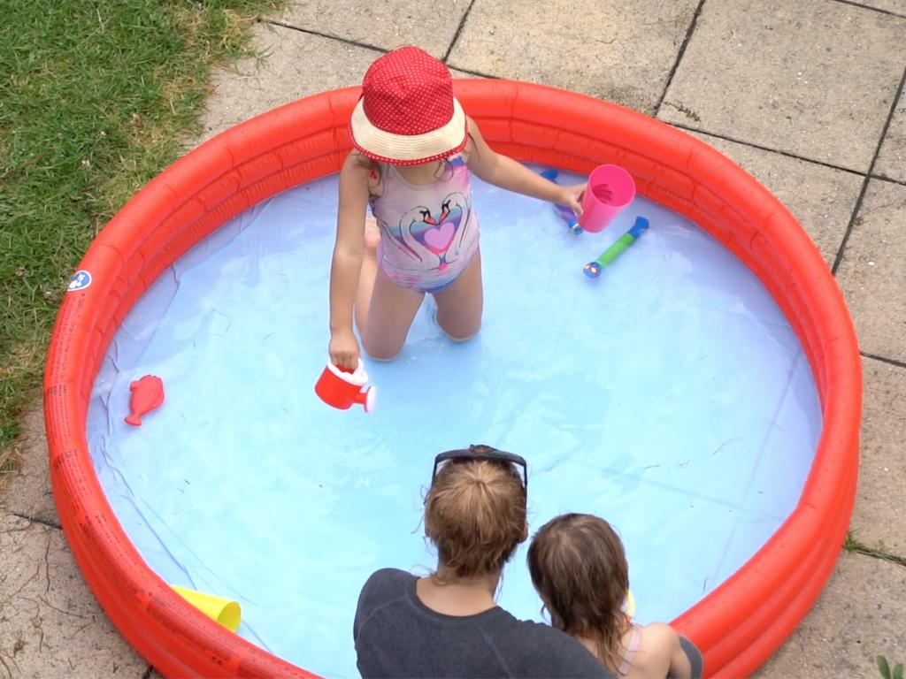 supervising kids in paddling pool
