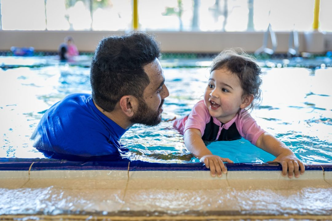 Parent / caregiver in water with under 5