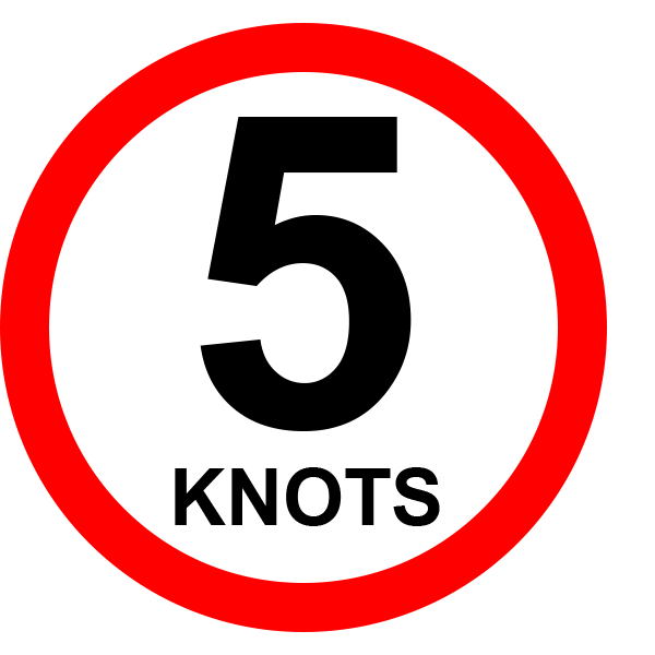 5 knot speed limit sign