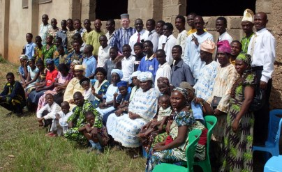 Gathered outside the Deaf church after my last service in Nigeria.