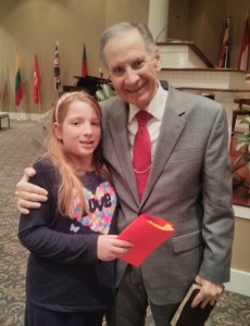 photo of our daughter and pastor