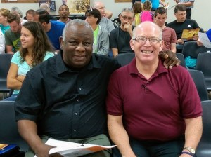 Photo of Pastor Rubin Ruffin and David Peach.