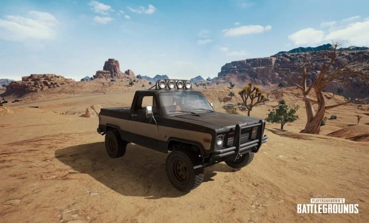 【PUBG】砂漠マップ専用の新車両「Pickup truck」イメージ画像が公開