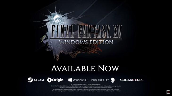 PC版『ファイナルファンタジー15』が遂に本日リリース!Windowsストア/Steam/Originにて取り扱い開始
