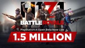 無料バトルロイヤルシューター『H1Z1』PS4版オープンベータテストの参加者が初日で150万人を突破