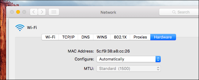 find device by MAC address 11