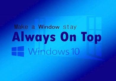 always on top windows 10