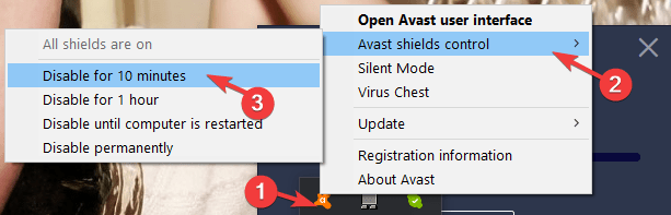 Avast Unable to Start Firewall 1