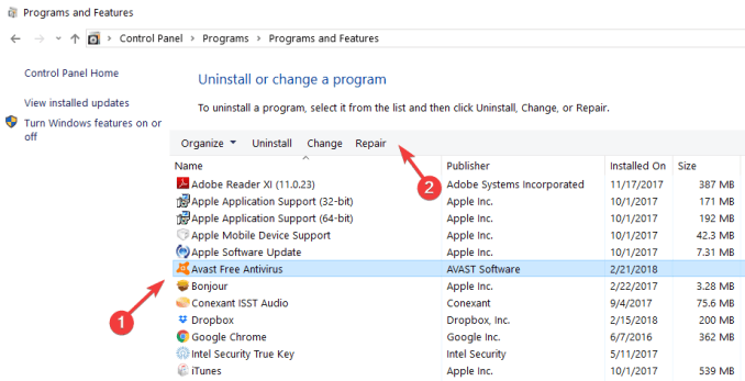 Avast Unable to Start Firewall 8