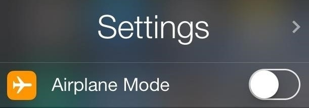 What does airplane mode do 3