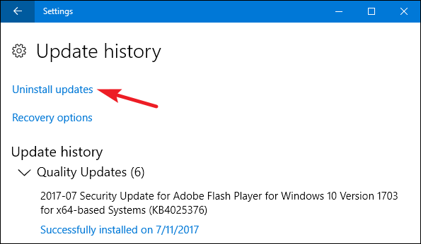 how to uninstall windows 10 update 11