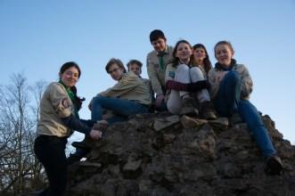 Gruppenbild auf der Tannenburg