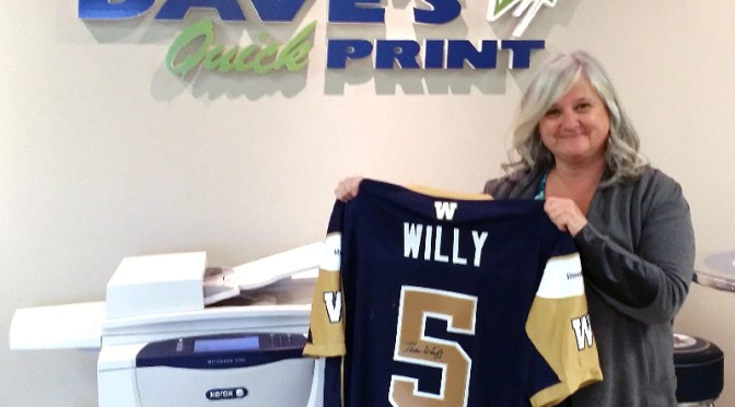 Congratulations to Erva Ritson, winner of the second-half Winnipeg Blue Bombers Jersey draw!