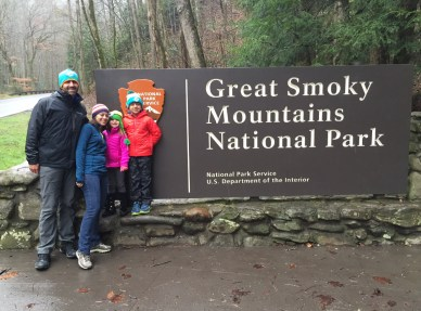 Smoky Mountain hikes sign Fam