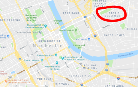 Weekend getaway in Nashville map