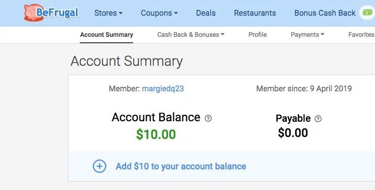 Befrugal cash back apps