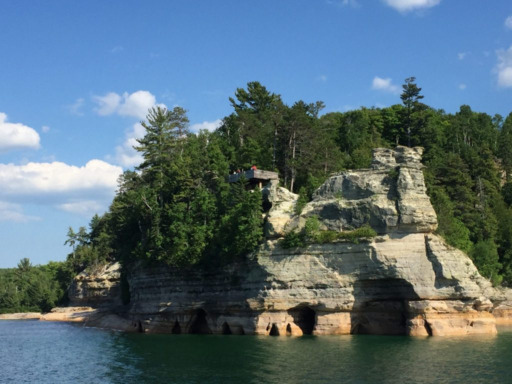 Pictured Rocks Michigan with kids