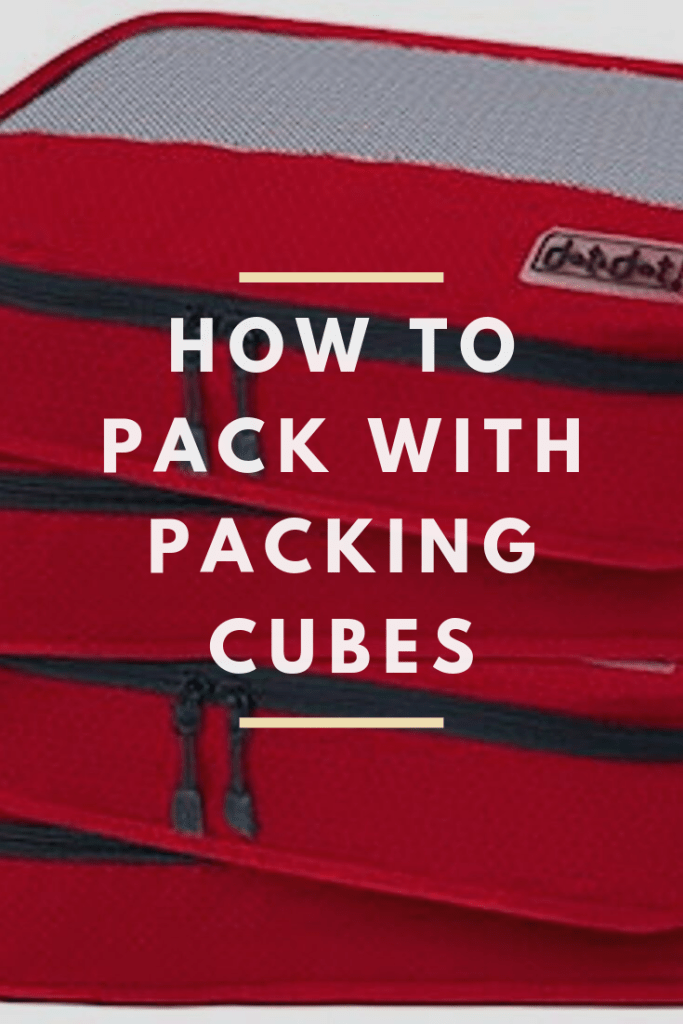 how to pack with packing cubes pin