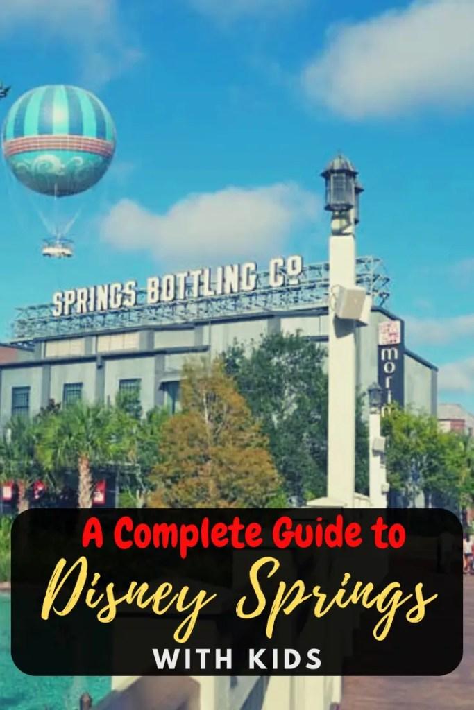Disney Springs for kids pin