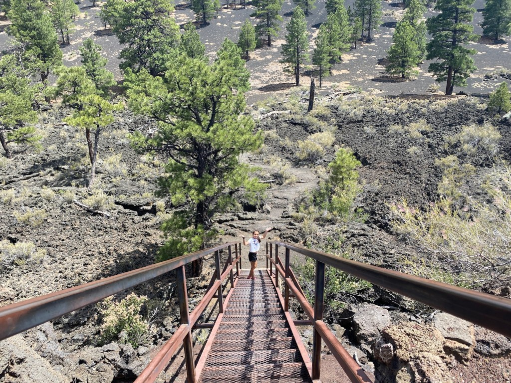 Sunset Crater stairs