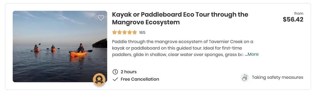 kayak key largo