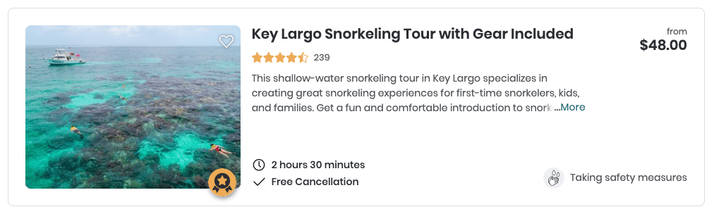 Key Largo Tour