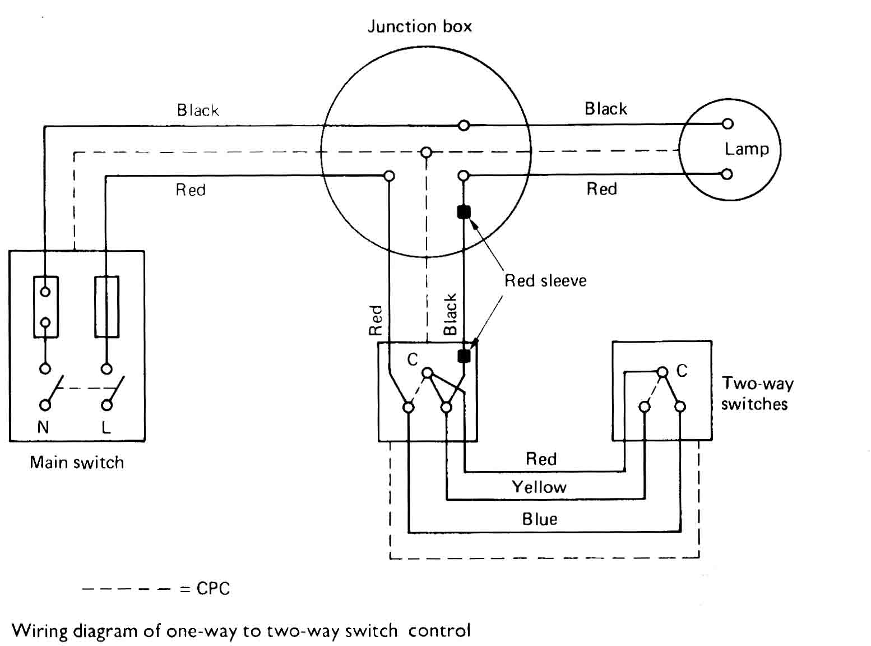 2 Way Switch Wiring 1 Light