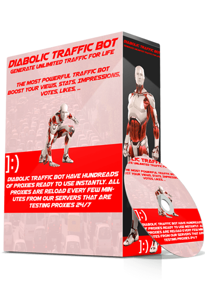Diabolic Traffic Bot Full Edition Premium Lifetime Cracked + Dr.FarFar Proxy Tools 2018 + Gifts + Priv8 Mobiles User Agents