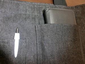 オリジナルトートバッグ外側ポケット