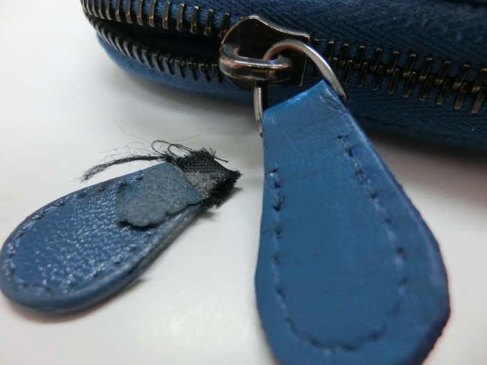 ボッテガベネタラウンド財布持ち手交換修理1