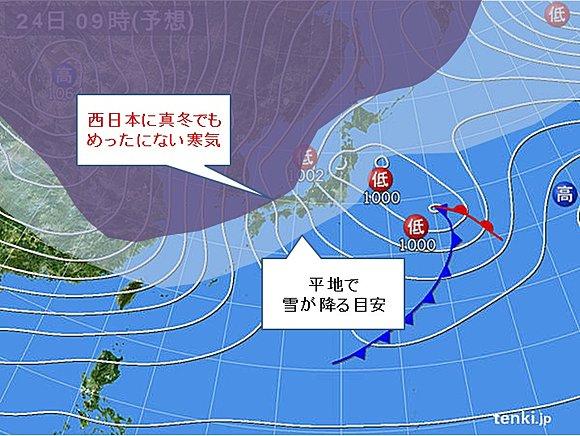 寒波天気図