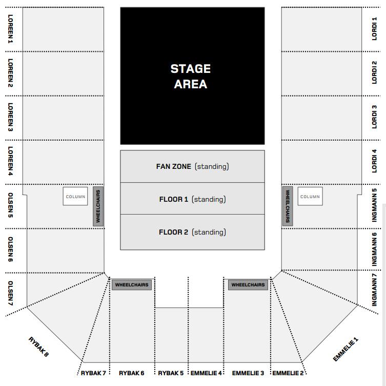 B&W Halls floor plan
