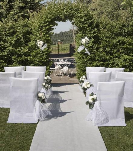 tapis mariage blanc pour ceremonie d eglise en tissu non tisse de 15 m