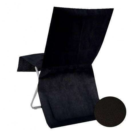 10 housses de chaise jetable noire semi opaque
